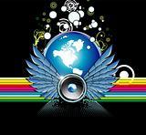 Music World rainbow background