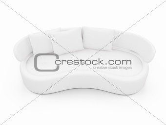 Couch over white