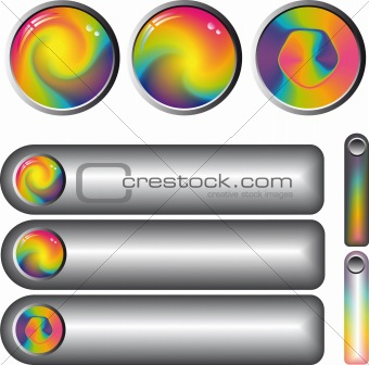 rainbow fantasy web buttons