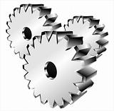 3D gears isolated