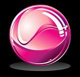 purple glossy sphere