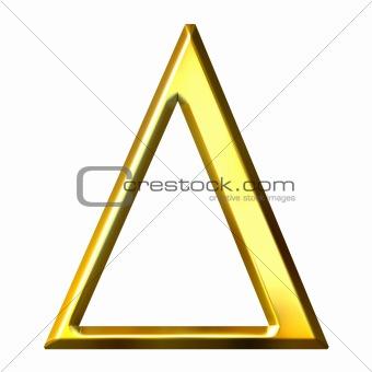 3D Golden Greek Letter Delta