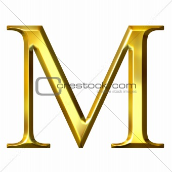 3D Golden Greek Letter My