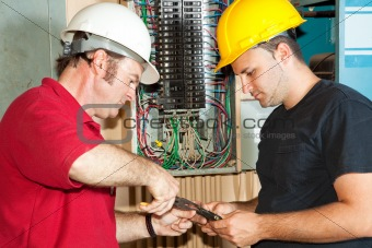 Electricians Repair Circuit Breaker