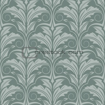 Grey-green seamless wallpaper