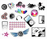 High quality detailed music icons