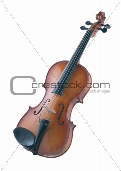 antique violin isolated on white