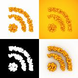 bubble RSS feed icon