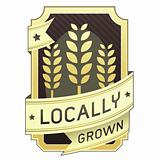 Locally grown food package or menu label