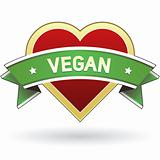 Vegan food package or menu label