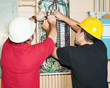 Journeyman Electricians Working