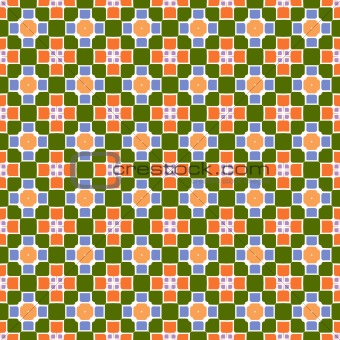 festive square and flower pattern