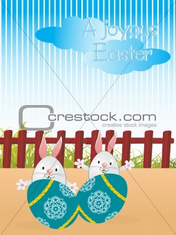 a joyous easter, illustration