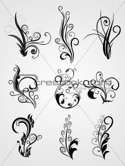 background with floral tattoos
