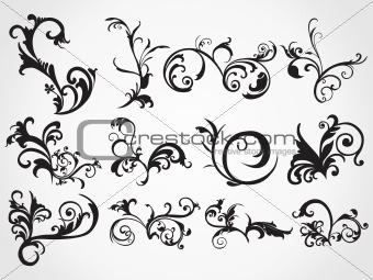 artistic floral tattoos background