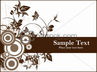 abstractflower design with circle illustration