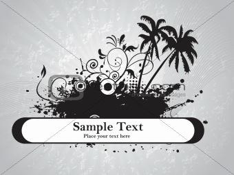 grey background with grunge, wave illustration