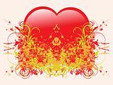 abstract grunge heart-shape illustration