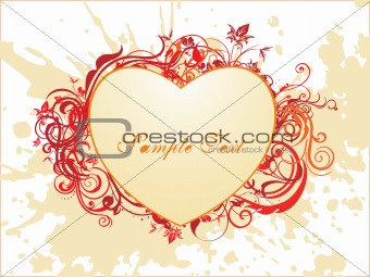 abstract decorated heart shape background