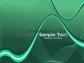 green futuristic waves background