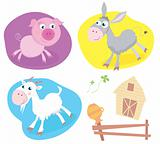 Farm animal pack – pig, goat, donkey.