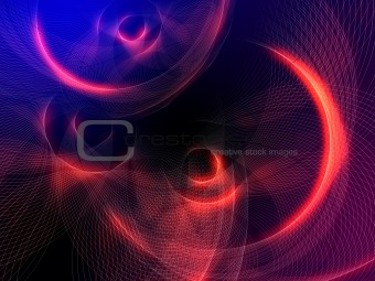 abstract glowing orange circles background