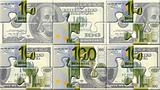Euro and dollar puzzle pieces