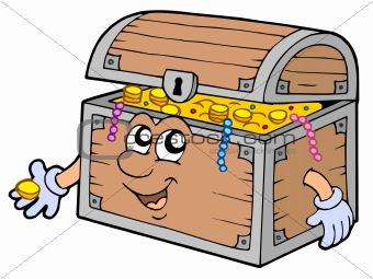 Cartoon treasure chest