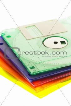 coulorfull floppy disk