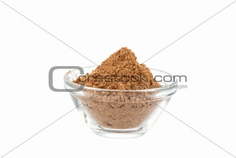 amchur powder in glass bowl