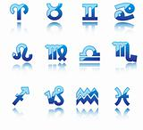 Glossy symbols of horoscope
