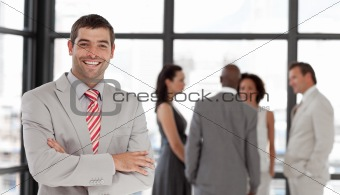 Business executive smiling at camera
