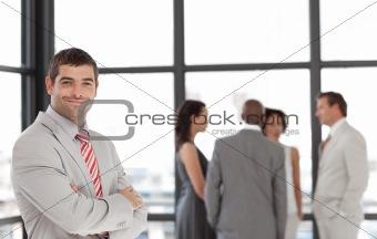 Business executive smiling at camera