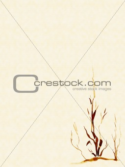 Background with a plant