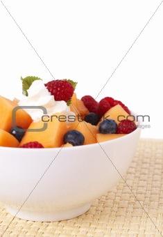 Bowl of summer fruit salad