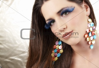 Portrait of beautiful brunette woman