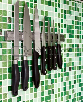 Knives on wall