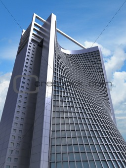 3D  model of futuristic office structure