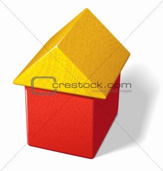 Toy block house