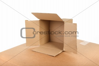 small open cardboard box