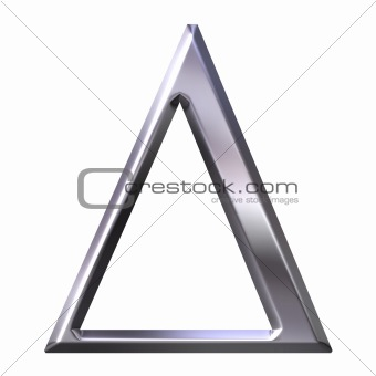 3D Silver Greek Letter Delta