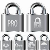 Internet security lock icons