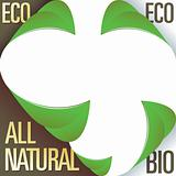 Eco and all natural corner labels