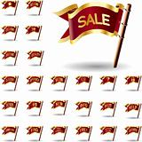 E-commerce or retail sale flags