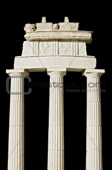 Ancient Greek temple (detail)