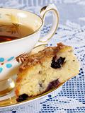 Blueberry Scone with Tea