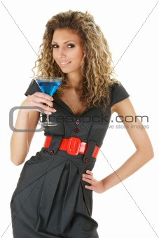 Attractive woman with cocktail