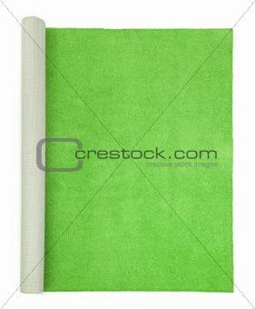 green carpet - top view