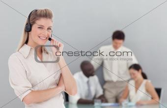 Busiiness lady on phone