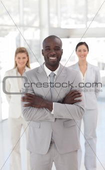 Business team at work in office